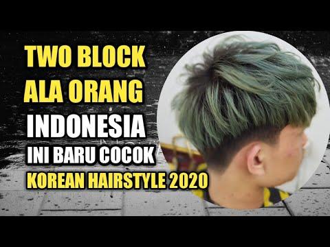 Two Block Cara Gampang Cukur Two Block Korean Hairstyle Trend Rambut 2020 Di Indonesia Youtube