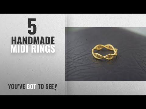 Top 10 Handmade Midi Rings [2018]: Handmade DNA Ring, Science Jewelry, Fashion Ring, GİFT