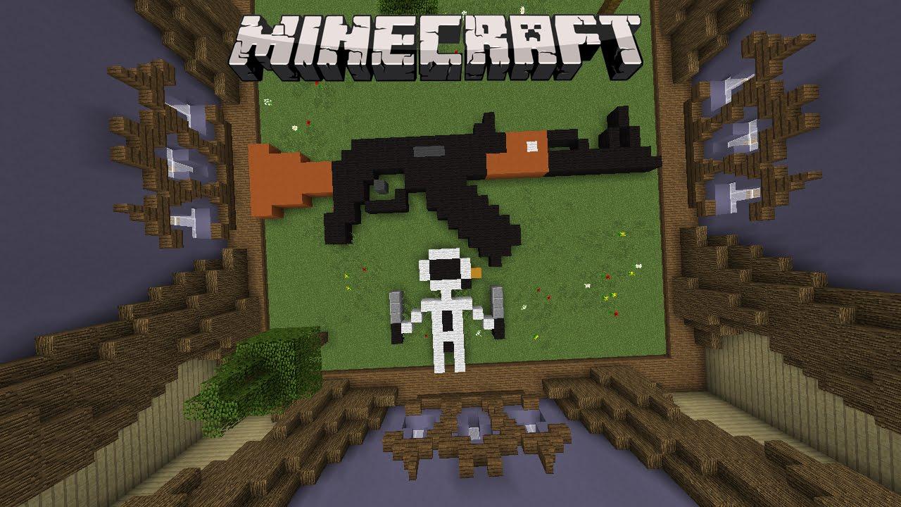 Minecraft Build Battle  Construim un AK47   Ep 38