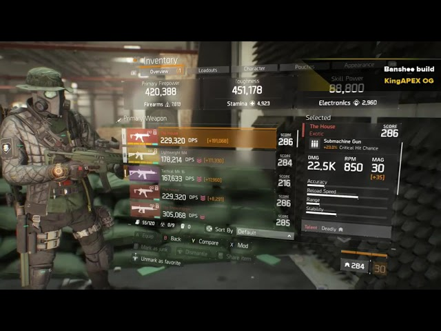 The Divison Classified banshee build with Savage Gloves and tenacious mask , THIS BUILD SHREDS