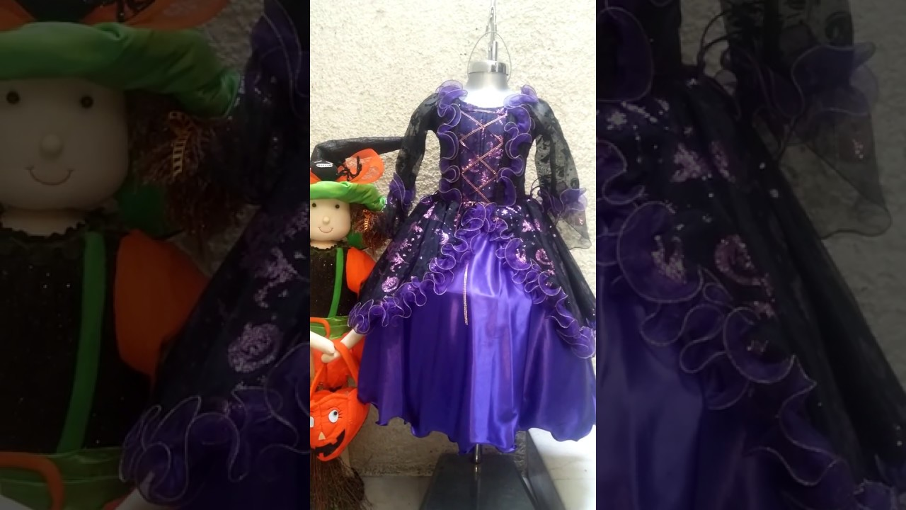 Vestido De Catrina En Color Morado Youtube