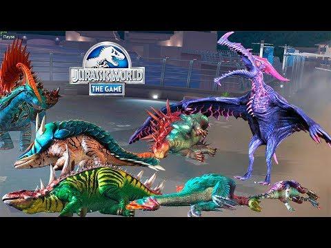 Истребление травоядных динозавров богом Птерозавром Jurassic World игра