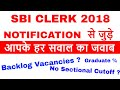 No Sectional Cut off in Prelims ? Question and Answer on SBI Clerk 2018 Notification.