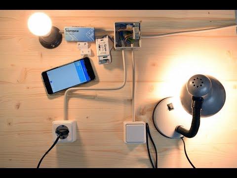 SONOFF Basic / RF WiFi - Einbau in die bestehende Hauselektrik / Rauminstallation