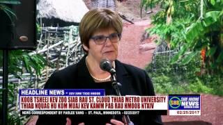 SUAB HMONG NEWS:  Dr. Ginny Arthur, President of Metropolitan University, speech at HNO event