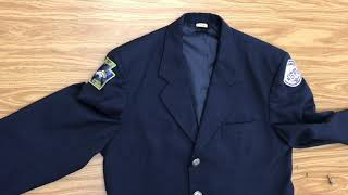 Guide on how to wear the service dress (Class A) uniform