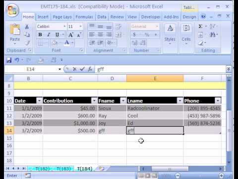 Excel Magic Trick #184: Setup Database in Excel