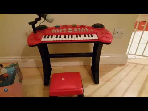 Argos Chad valley stool & stand keyboard for toodlers