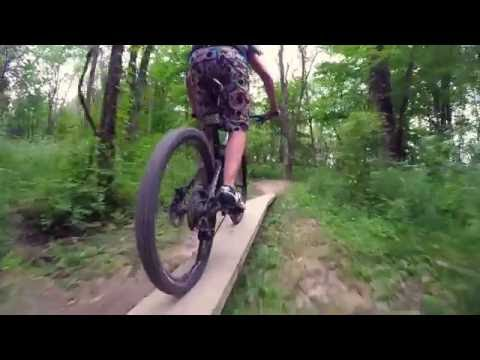 Mountain Biking at Flat Fork Creek Park in Fishers, Indiana
