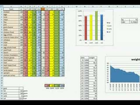 Keto diet example in my own excel sheet youtube for Bodybuilding excel template