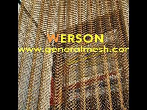 generalmesh  Architectural Drapery,Cladding woven wire fabric,Metal Drapery, chain link curtain