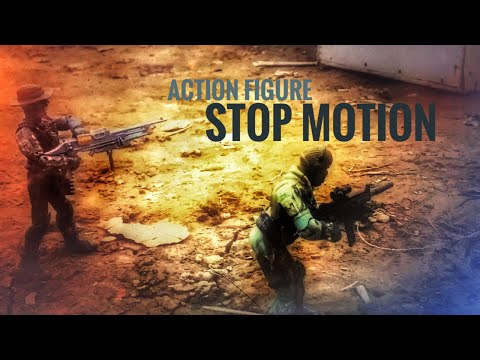 Military action figures stop motion