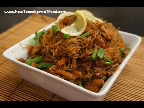 Filipino Food - Gisadong Bihon Recipe - Tagalog English chicken noodles Pinoy cooking