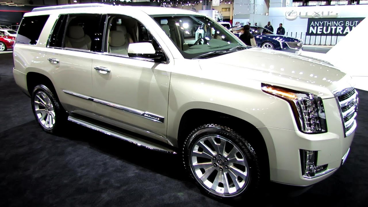 2015 Cadillac Escalade   Exterior And Interior Walkaround   2014 Chicago  Auto Show   YouTube