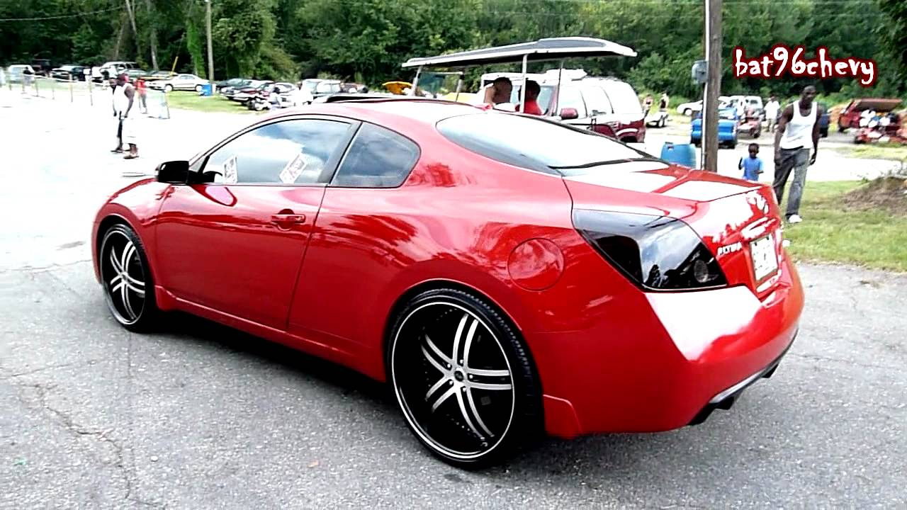 Nissan altima coupe on 22 staggered status wheels hd youtube vanachro Gallery