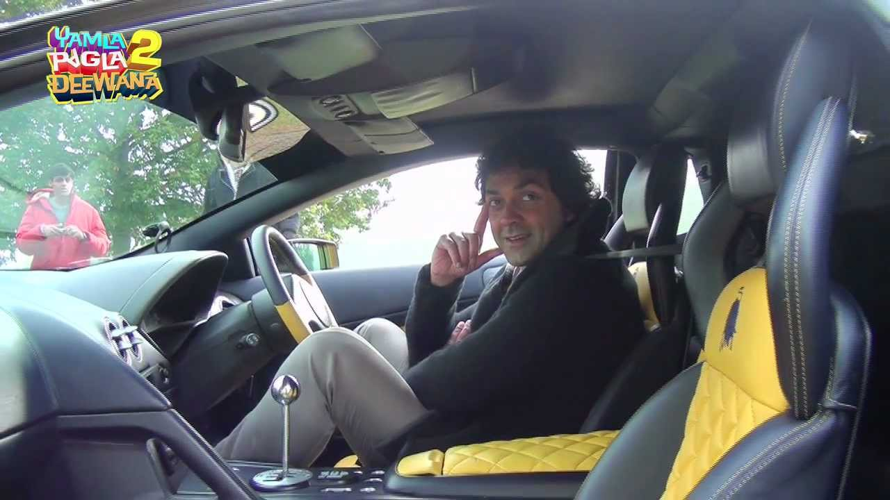 bobby deol drives around in a lamborghini youtube. Black Bedroom Furniture Sets. Home Design Ideas