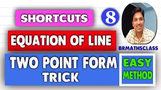 EQUATION OF A LINE SHORTCUT    HOW TO FIND EQUATION OF A LINE SHORTCUT    FINDING EQUATION OF A LINE