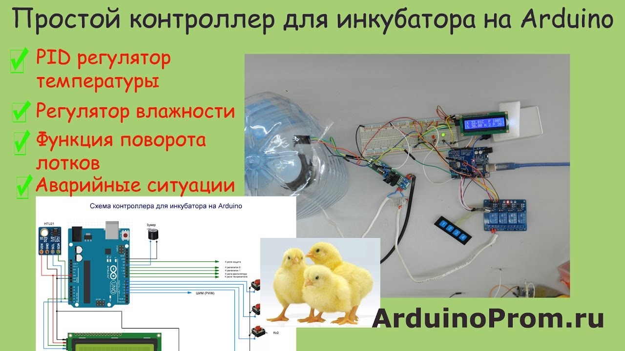 Контроллер для инкубатора своими руками 171