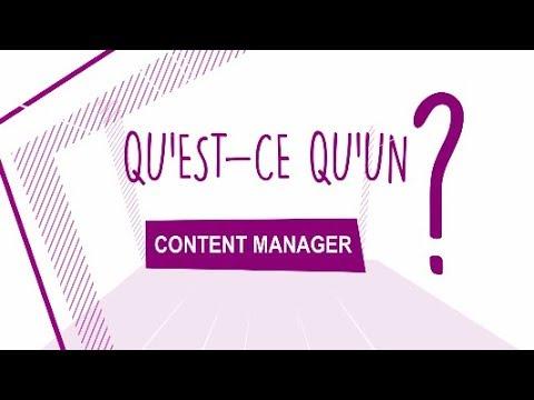 Metier Qu Est Ce Qu Un Content Manager Youtube