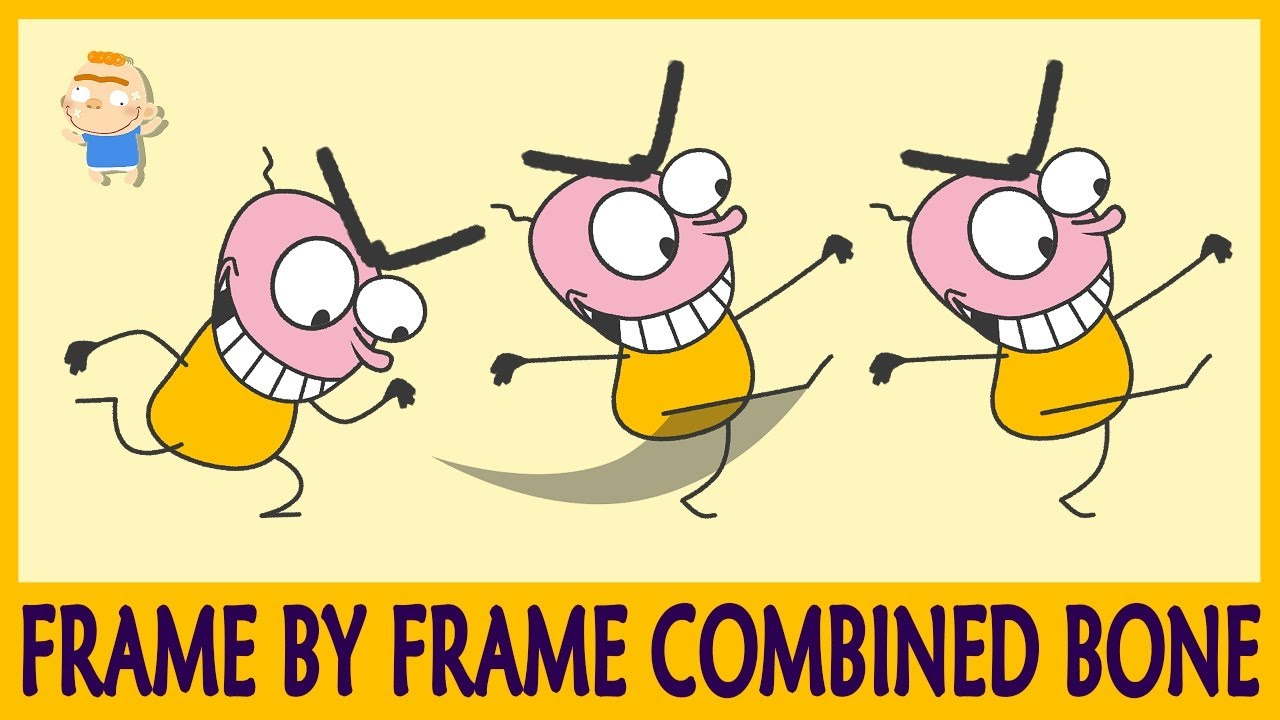 Frame by Frame combined Bone in Moho - Coise - Anime Studio - Moho tutorial