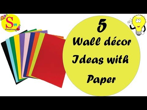 5 wall decor ideas with paper | diy room decor | quick & easy room decor ideas with paper | wall art