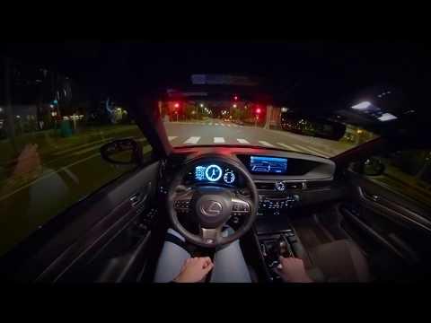 2018 Lexus GS 350 F-Sport | POV Night City Drive
