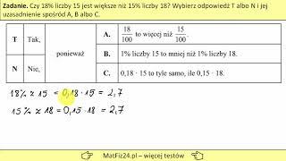 Procent z liczby | Egzamin Gimnazjalny 2019 | Matfiz24.pl