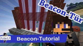 Moderne Tür mit Leuchtfeuern, die wirklich funktioniert! || Minecraft Tutorial || PalmLP