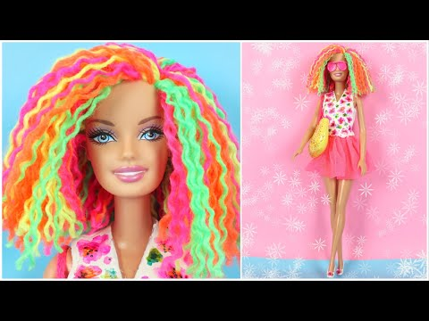 barbie-hairstyle,-clothes-hacks-and-diy-crafts