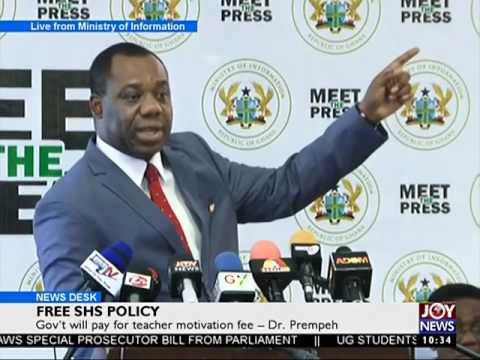Free SHS Policy - News Desk on Joy News (27-7-17)