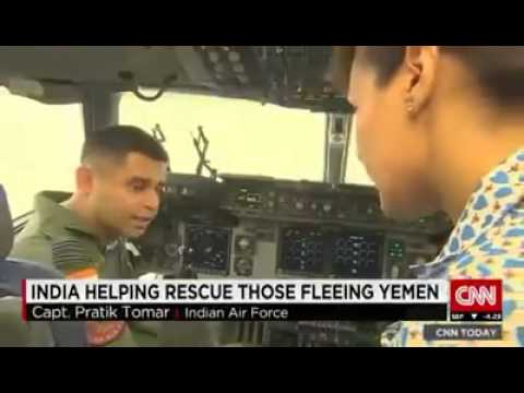 "Foreign Channel CNN has covered India's successful Yemen rescue operation ""Operation Raahat"""