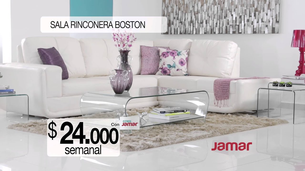 Comercial muebles jamar sala rinconera boston youtube for Mueble jamar