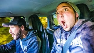 DRIVING MONSTER TRUCKS OFF CLIFFS! w/ Sam, Colby & Corey
