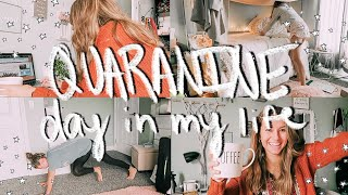 a productive day in my life in quarantine || working out, exams, youtube work, + more!
