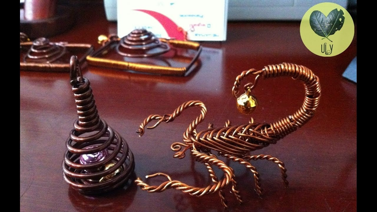 How To Make Scorpion With Copper Wire Youtube House Wiring Art Lythong