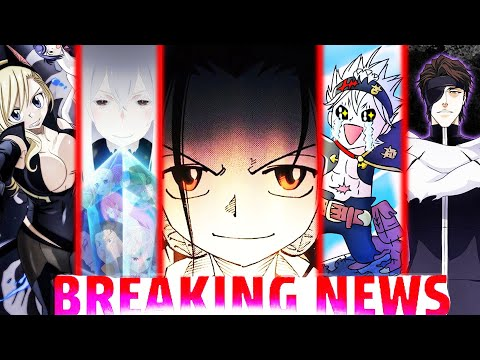 NEW SHAMAN KING ANIME, Black Clover Return, AOT 95% Done, Bleach V.A's, Re Zero Season 2, Edens Zero