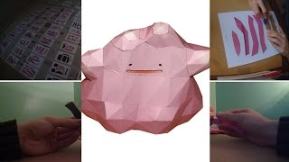 PAPERCRAFT #6 - Ditto (Metamorph6iv) - Pokemon (Stop Motion)