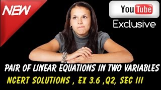 ncert solutions for class 10 maths linear equations in two variable ex 3 6 q2 sec iii
