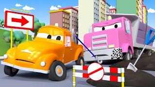 Zaseknutá Flavy se zlobí - Çekici Tom araba şehrinde 🚗 Çocuklar için çizgi filmler
