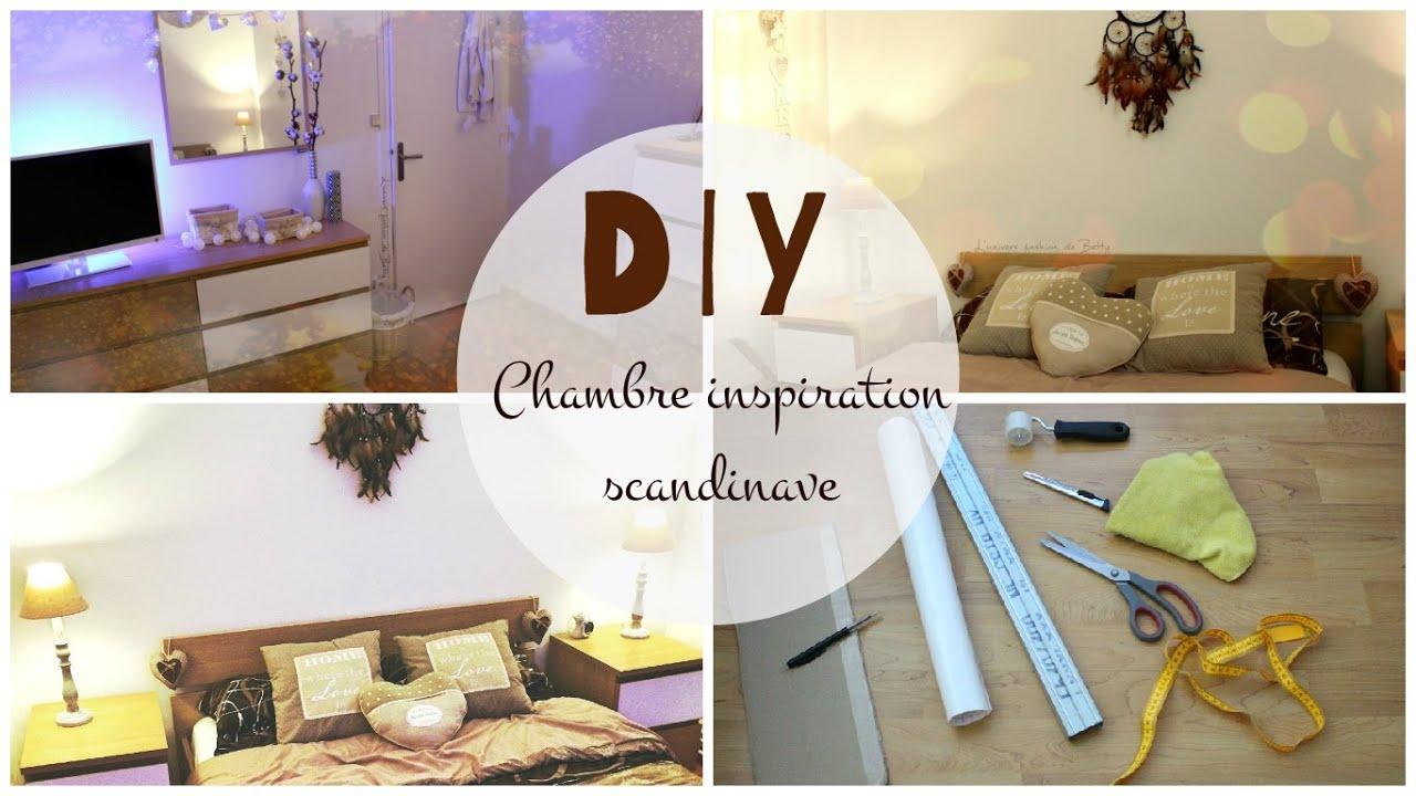 diy chambre inspiration scandinave customisation youtube. Black Bedroom Furniture Sets. Home Design Ideas