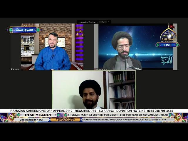 🔴 Live - Khuda Ki Taraf - Agha Ali Moosvi - Ahlebait TV - 16th Apr 2021