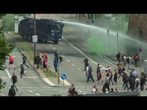 Protests in Hamburg as G20 summit underway