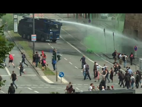 Protests in Hamburg as G20 summit underway
