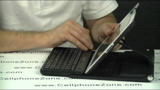 360 degree adjustable wireless bluetooth keyboard case for the ipad 2