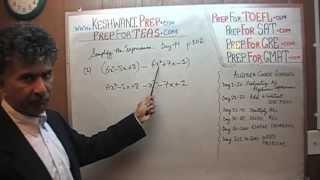TEAS V, Math Day 49, p102, Algebra, Nursing Online Test Prep Tutor GRE, GMAT, SAT, ACT