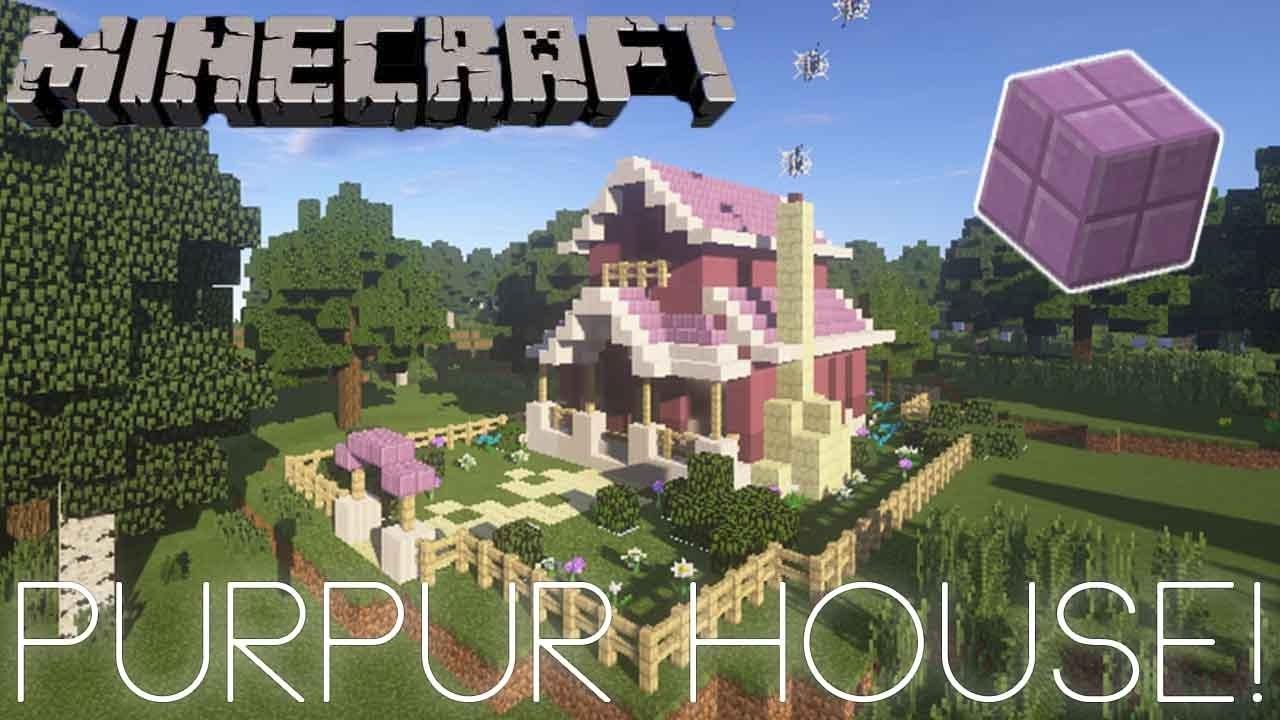 Minecraft Purpur Block House Tutorial Youtube