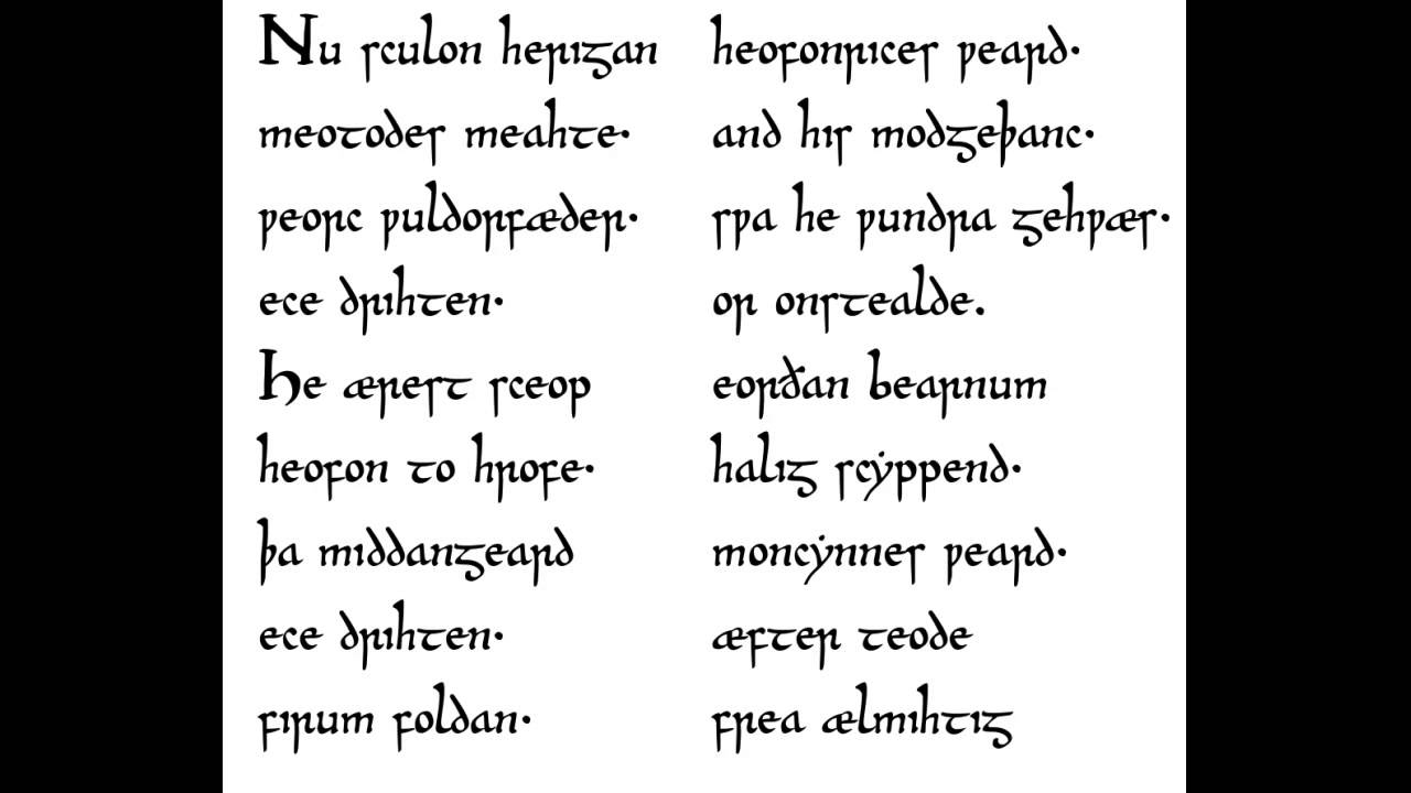 caedmon s hymn Librivox recording of caedmon's hymn read by kara shallenberg cædmon was an anglo-saxon herdsman attached to the double monastery of streonæshalch.