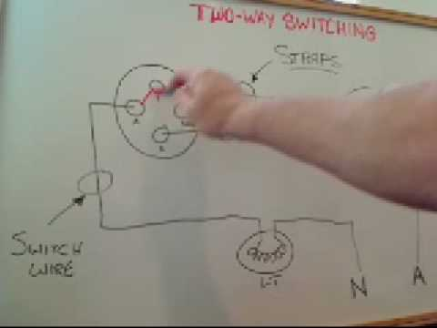 steves training vids (two way switching) youtube installing a 3-way switch 3 way switch light wiring schematic #25
