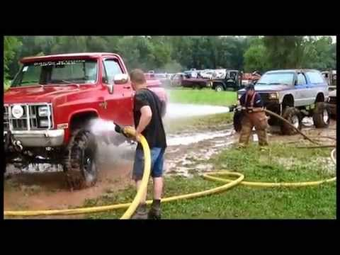 BOONDOCKERS MUD BOG  8/2013  MUD TRUCK WASHING BY FIRE CO.'S