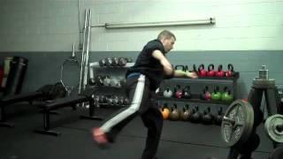Discus Throw - Right Leg Driving Thru the Circle